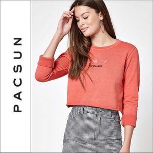 PacSun Desert Dreamer No Thanks Cropped Sweatshirt